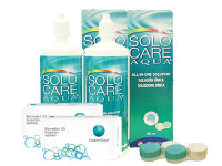 Lentes de Contato Biomedics 55 Evolution + Solo Care Aqua - Packs