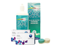Lentes de Contato Biofinity Multifocal + Solo Care Aqua - Packs
