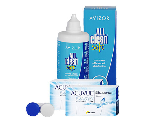 Lentes de Contato Acuvue Oasys + All Clean Soft - Packs