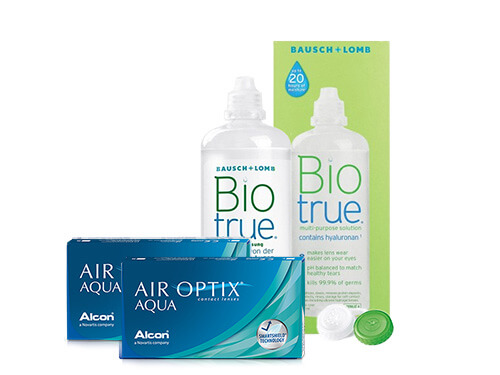 Lentes de Contato Air Optix Aqua + Biotrue - Packs