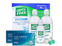 Lentes de Contato Air Optix Aqua + Opti-Free PureMoist - Packs