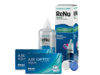 Lentes de Contato Air Optix Aqua + Renu Multiplus - Packs