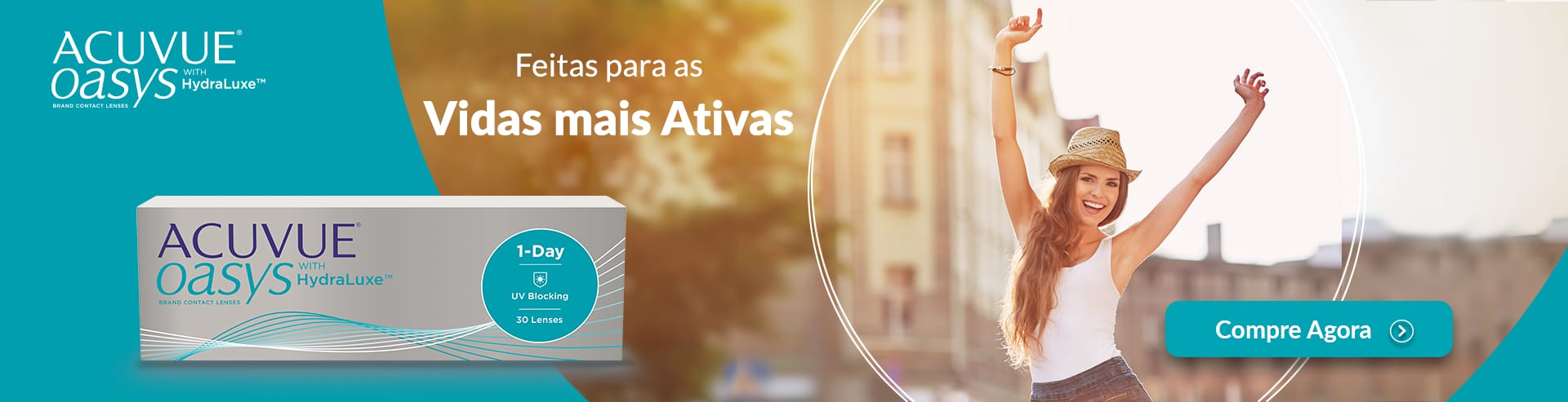 As lentes de contacto Acuvue Oasys 1-Day feitas para as vidas mais ativas