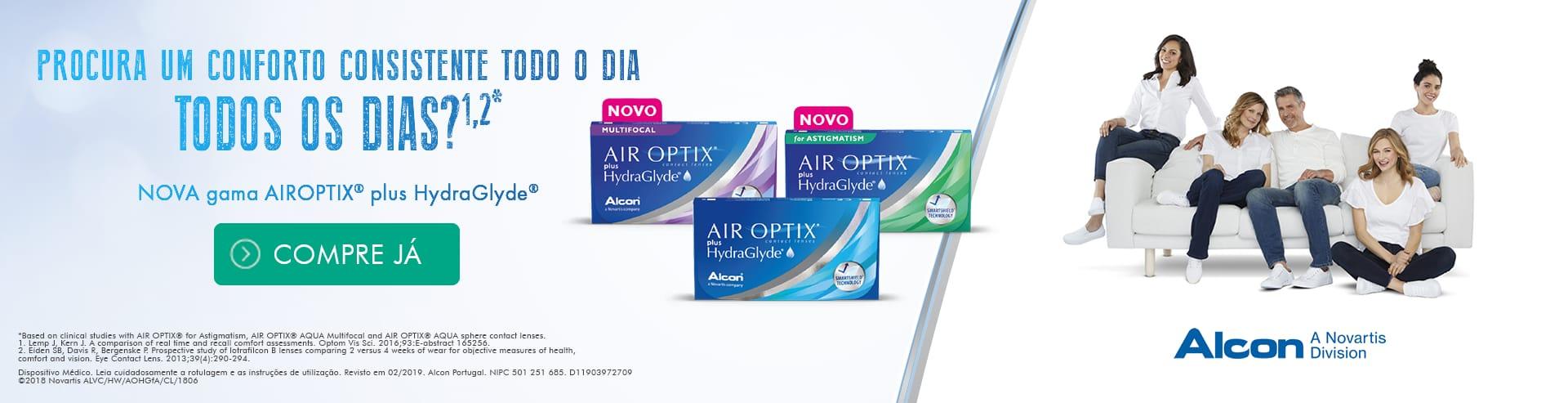 dbbb6edd49 Conforto consistente todo o dia com Lentes contacto Air Optix Hydraglyde