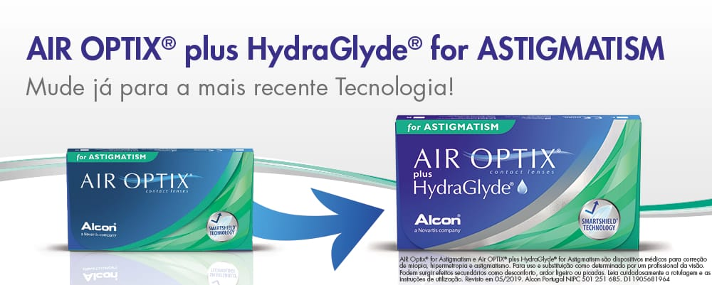 9ffcf48f4 As suas Lentes Contacto Air Optix plus Hydraglyde for Astigmatism em Lentes  de Contacto 365